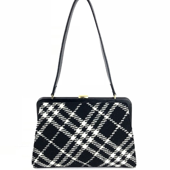 Burberry Handbags - Burberry Nova Check Plaid Wool Shoulder Bag 230a878297717